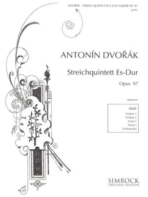 Streichquintett In Es-Dur Op. 97 -stimmen DVORAK laflutedepan