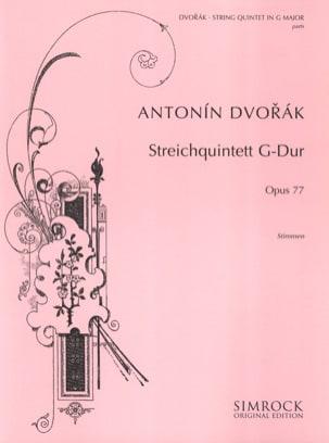 DVORAK - Quintett G-Dur op. 77 - Stimmen - Sheet Music - di-arezzo.com