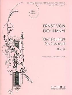 Klavierquintett n° 2 es-moll -Stimmen DONHANYI Partition laflutedepan