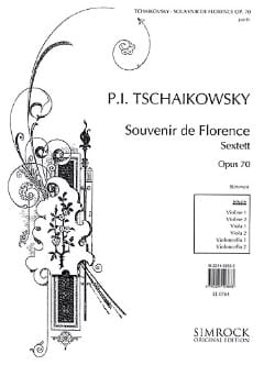 TCHAIKOVSKY - Souvenir of Florence op. 70 - Stimmen - Sheet Music - di-arezzo.co.uk