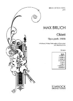Max Bruch - octuor op. posth. - Soli o. Streichorchester - Stimmen - Sheet Music - di-arezzo.co.uk