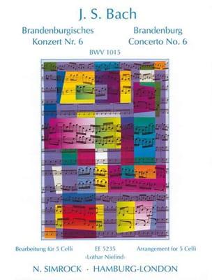 BACH - Brandenburgisches Konzert Nr. 6 BWV 1051 - 5 Celli - Partition - di-arezzo.fr