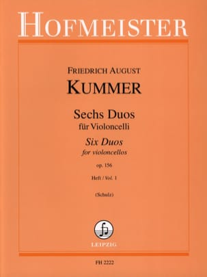 Friedrich-August Kummer - 6 Duos op。 156巻1巻 - 楽譜 - di-arezzo.jp