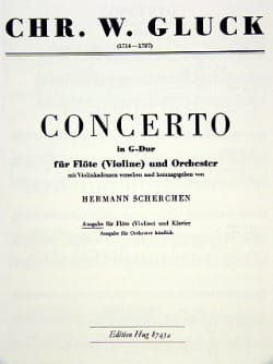 Christoph Willibald Gluck - Concerto G-Dur – Flöte (Violine) Klavier - Partition - di-arezzo.fr