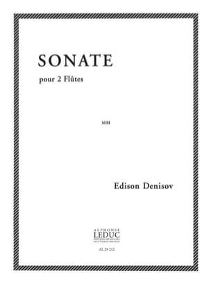 Edison Denisov - Sonate - 2 Flûtes - Partition - di-arezzo.fr