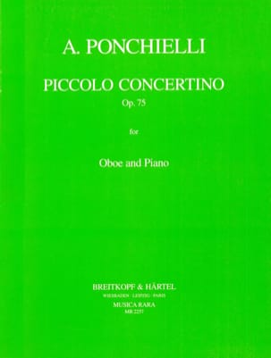 Amilcare Ponchielli - Piccolo concertino Op. 75 - Oboe piano - Sheet Music - di-arezzo.co.uk