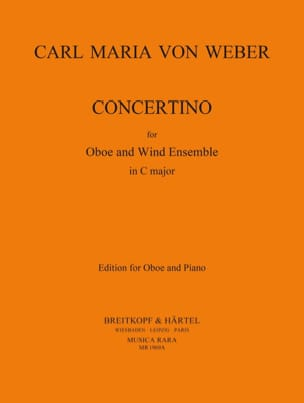 Carl Maria von Weber - Concertino - Oboe piano - Sheet Music - di-arezzo.co.uk