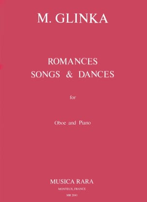 Romances, Songs and Dances - Oboe piano GLINKA Partition laflutedepan