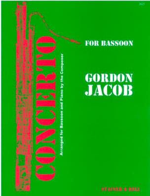 Gordon Jacob - Concerto for bassoon - Partition - di-arezzo.fr