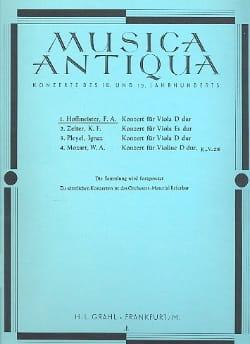 Konzert für Viola D-Dur HOFFMEISTER Partition Alto - laflutedepan