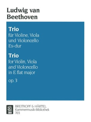 BEETHOVEN - Trio op. 3 Es-Dur - Stimmen - Partition - di-arezzo.co.uk