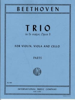 BEETHOVEN - Trio op. 3 E flat major - Parts - Sheet Music - di-arezzo.co.uk