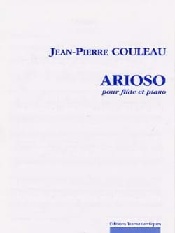 Jean-Pierre Couleau - Arioso - Sheet Music - di-arezzo.com