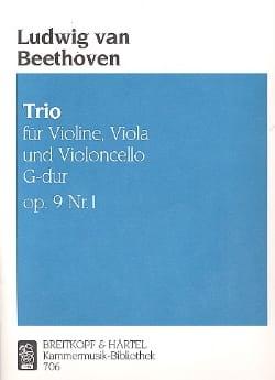 Trio op. 9 n° 1 G Dur -Stimmen BEETHOVEN Partition laflutedepan
