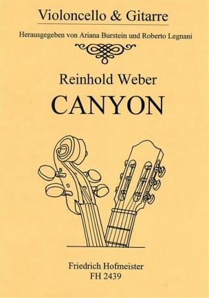 Reinhold Weber - Canyon – Violoncello Gitarre - Partition - di-arezzo.fr