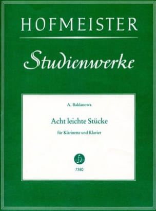 Natalja Baklanowa - 8 Leichte Stücke – Klarinette Klavier - Partition - di-arezzo.fr