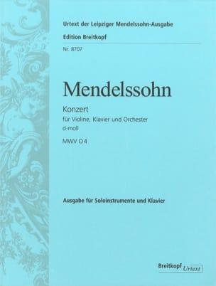MENDELSSOHN - Konzert d-moll for Violine und Klavier - Sheet Music - di-arezzo.com