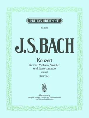 BACH - Konzert d-moll BWV 1043 -2 Violinen Klavier - Partition - di-arezzo.fr