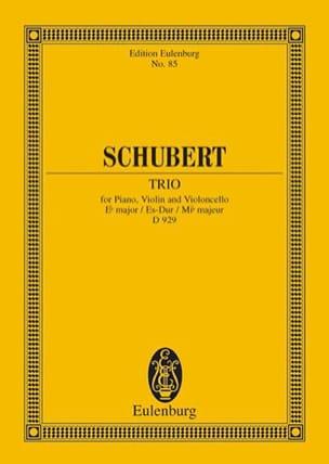 SCHUBERT - Trio en Mi B Majeur Op. 100 D 929 - Partition - di-arezzo.fr