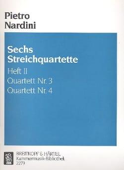 Pietro Nardini - 6 Streichquartette, Heft 2 : Nr. 3-4 -Stimmen - Partition - di-arezzo.fr