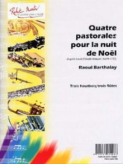 Raoul Barthalay - 4 Pastorals for Christmas night - parties cond. - Sheet Music - di-arezzo.co.uk