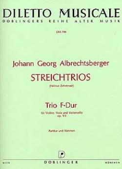 Johann Georg Albrechtsberger - Trio F-Dur op. 9 n° 3 -Partitur + Stimmen - Partition - di-arezzo.fr