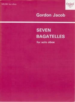 Gordon Jacob - 7 Bagatelles - Oboe solo - Sheet Music - di-arezzo.co.uk