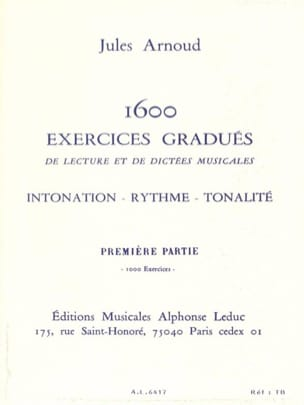 Jules Arnoud - 1600 Graduated Exercises Volume 1 - Sheet Music - di-arezzo.co.uk