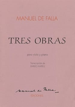 Manuel de Falla - Tres Obras - Viola - Partition - di-arezzo.fr