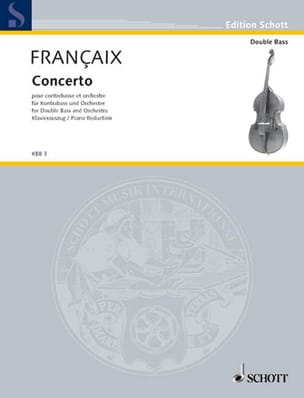 Concerto 1974 FRANÇAIX Partition Contrebasse - laflutedepan