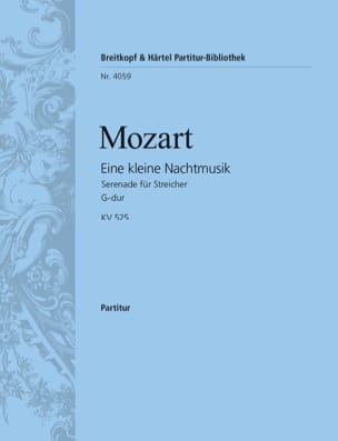 MOZART - Eine kleine Nachmusik KV 525 – Partitur - Partition - di-arezzo.fr