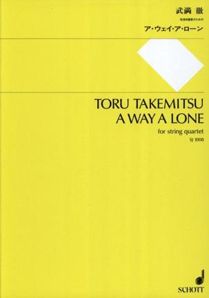 Toru Takemitsu - A way a Lone - String quartet - Score + Parts - Partition - di-arezzo.fr