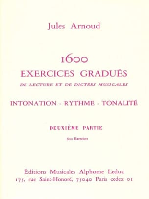 Jules Arnoud - 1600 Graduated Exercises - Volume 2 - Sheet Music - di-arezzo.co.uk