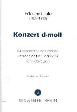 Edouard Lalo - Konzert d-moll - 4 cellos - Sheet Music - di-arezzo.co.uk