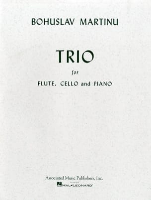 Bohuslav Martinu - Trio - Flute, cello and piano - Partition - di-arezzo.fr