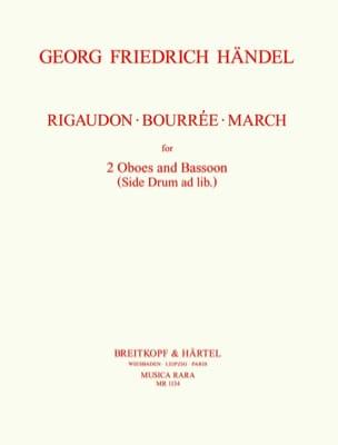 HAENDEL - Rigaudon - Bourrée - Walk - 2 Oboes Bassoon - Sheet Music - di-arezzo.com