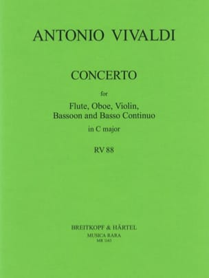 Concerto in C major RV 88 P. 82 - Flute oboe violin bassoon BC laflutedepan