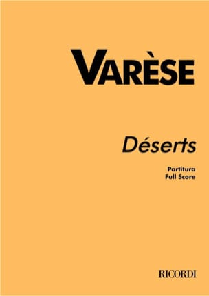 Edgard Varèse - Deserts - Partitur - Sheet Music - di-arezzo.com