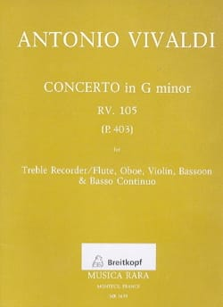 Concerto in G minor RV 105 P. 403 - Treble Recorder Oboe Violin Bassoon Bc laflutedepan