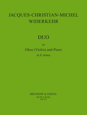 Jacques-Christian-Michel Widerkehr - Duo - Oboe Violin piano - Partition - di-arezzo.fr