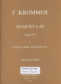 Quartet in Eb op. 69 - Clarinet violin viola cello - Score + Parts laflutedepan