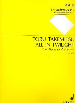 Toru Takemitsu - All in Twilight - Partition - di-arezzo.fr
