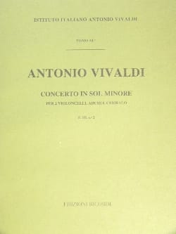 VIVALDI - Concerto in min. - F. 3 n ° 2 - Partitura - Partition - di-arezzo.co.uk