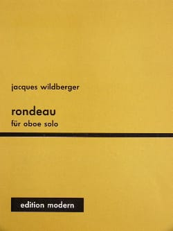Jacques Wildberger - Rondeau – Oboe solo - Partition - di-arezzo.fr