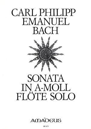Carl Philipp Emanuel Bach - Sonata a-moll Wq 132 - Solo flute - Sheet Music - di-arezzo.co.uk