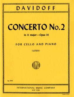 Charles Davidoff - Concerto n° 2 A Major op. 14 - Partition - di-arezzo.fr