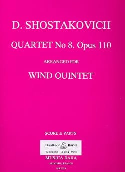 CHOSTAKOVITCH - Quartet n ° 8 op. 110 arr. for Wind Quintet - Score Parts - Sheet Music - di-arezzo.com