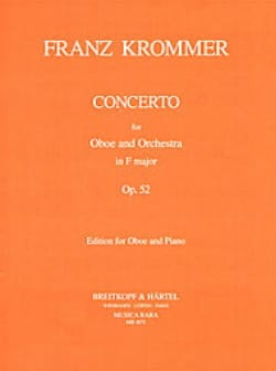 Franz Krommer - Concerto in F major op. 52 – Oboe piano - Partition - di-arezzo.fr