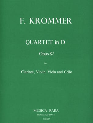 Franz Krommer - Quartet in D op. 82 - Clarinet-Violin-Viola-Cello - Sheet Music - di-arezzo.com