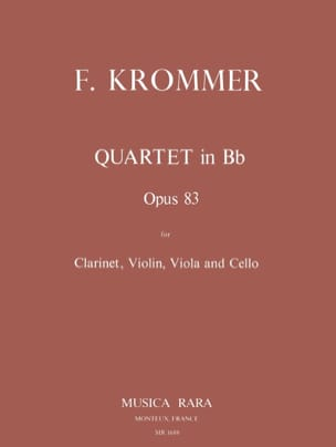 Quartet in Bb op. 83 - Clarinet violin viola cello - Parts laflutedepan